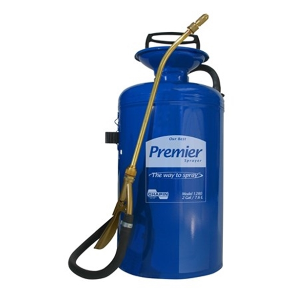 Picture of CHAPIN Premier Pro 1280 Compression Sprayer, 2 gal Tank, Steel Tank, 42 in L Hose, Blue