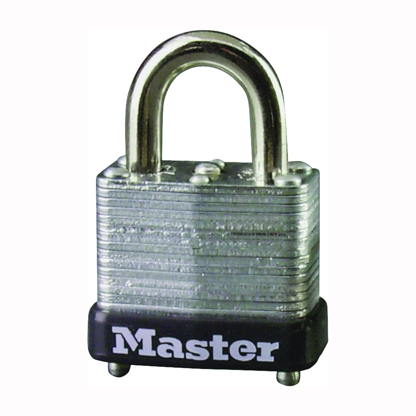 Picture of Master Lock 10D Padlock, Keyed Different Key, 5/32 in Dia Shackle, Steel Shackle, Steel Body, 1 in W Body