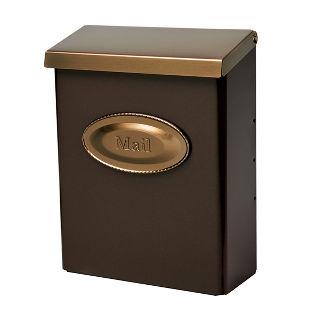 Picture of Gibraltar Mailboxes Designer DMVKGV04 Mailbox, 440 cu-in Capacity, Galvanized Steel, Powder-Coated, Venetian Bronze