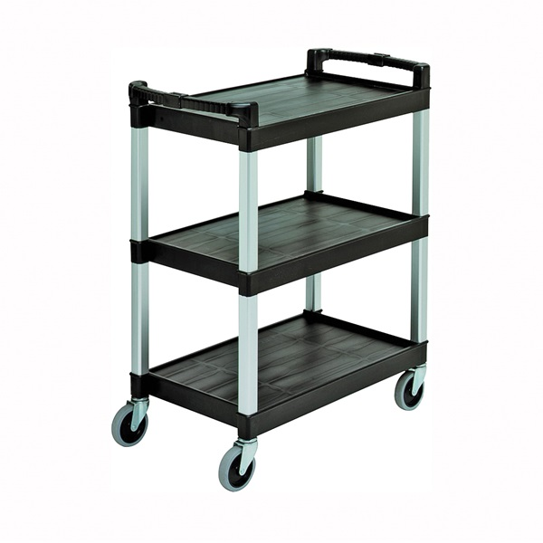 Picture of CONTINENTAL COMMERCIAL 5810BK Service/Bussing Cart, 400 lb, Plastic, Black, 31-1/4 in OAL, 16-1/4 in OAW