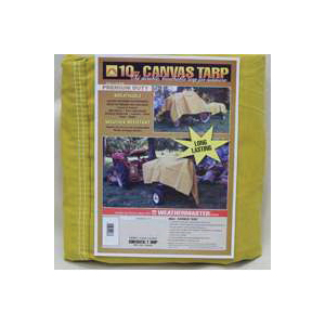 Picture of DIZE Weathermaster CA1236D Tarpaulin, 36 ft L, 12 ft W, Canvas, Tan
