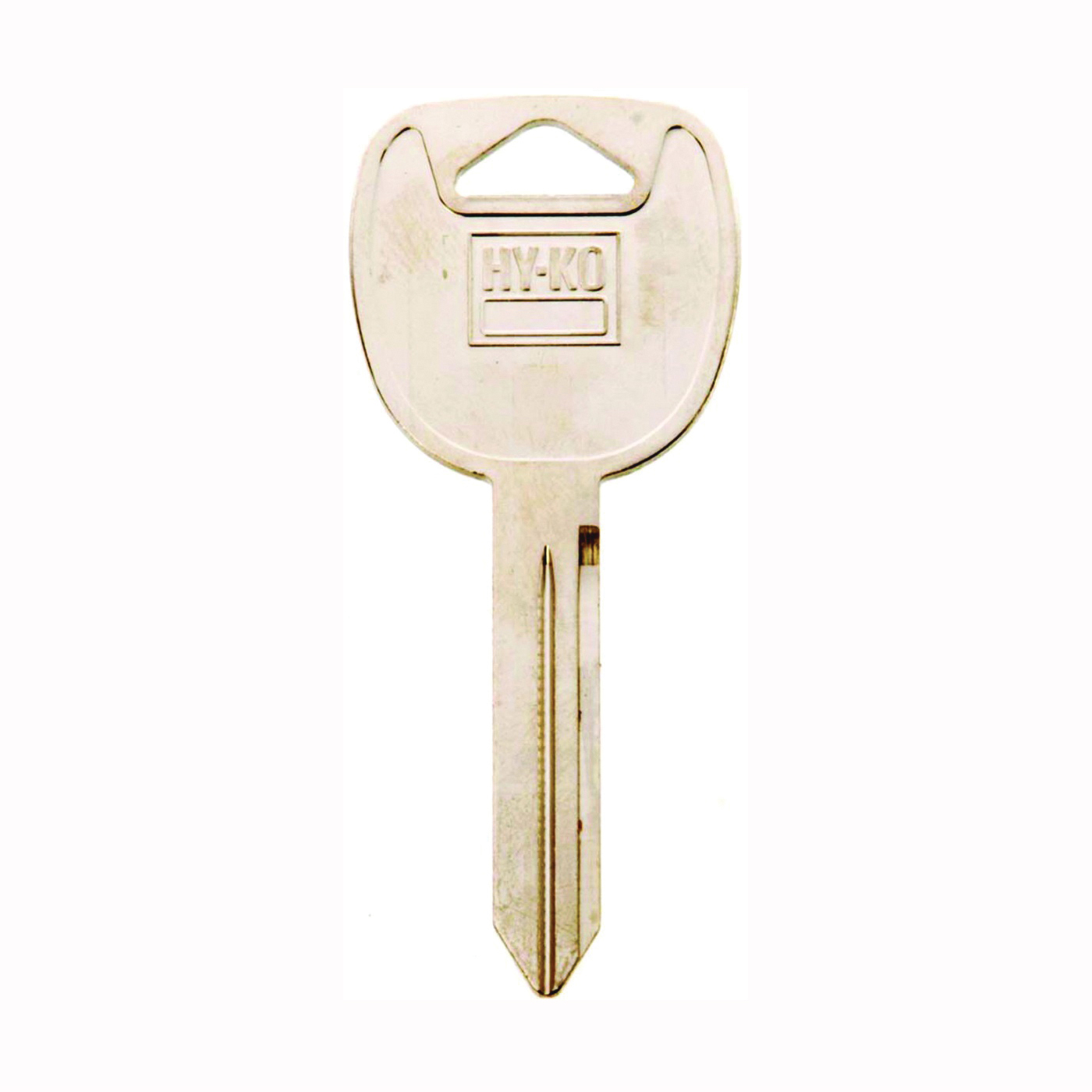 Picture of HY-KO 11010B102 Key Blank, Brass, Nickel, For: Automobile, Many General Motors Vehicles