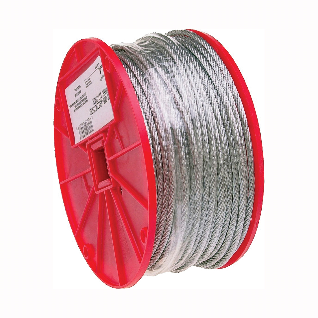Picture of Campbell 7000627 Aircraft Cable, 3/16 in Dia, 250 ft L, 840 lb Working Load, Galvanized Steel
