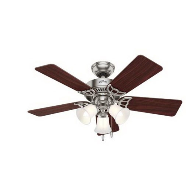 Picture of Hunter 51011 Ceiling Fan with Light, 0.41 A, 120 V, 5-Blade, 42 in Sweep, 3467 cfm Air
