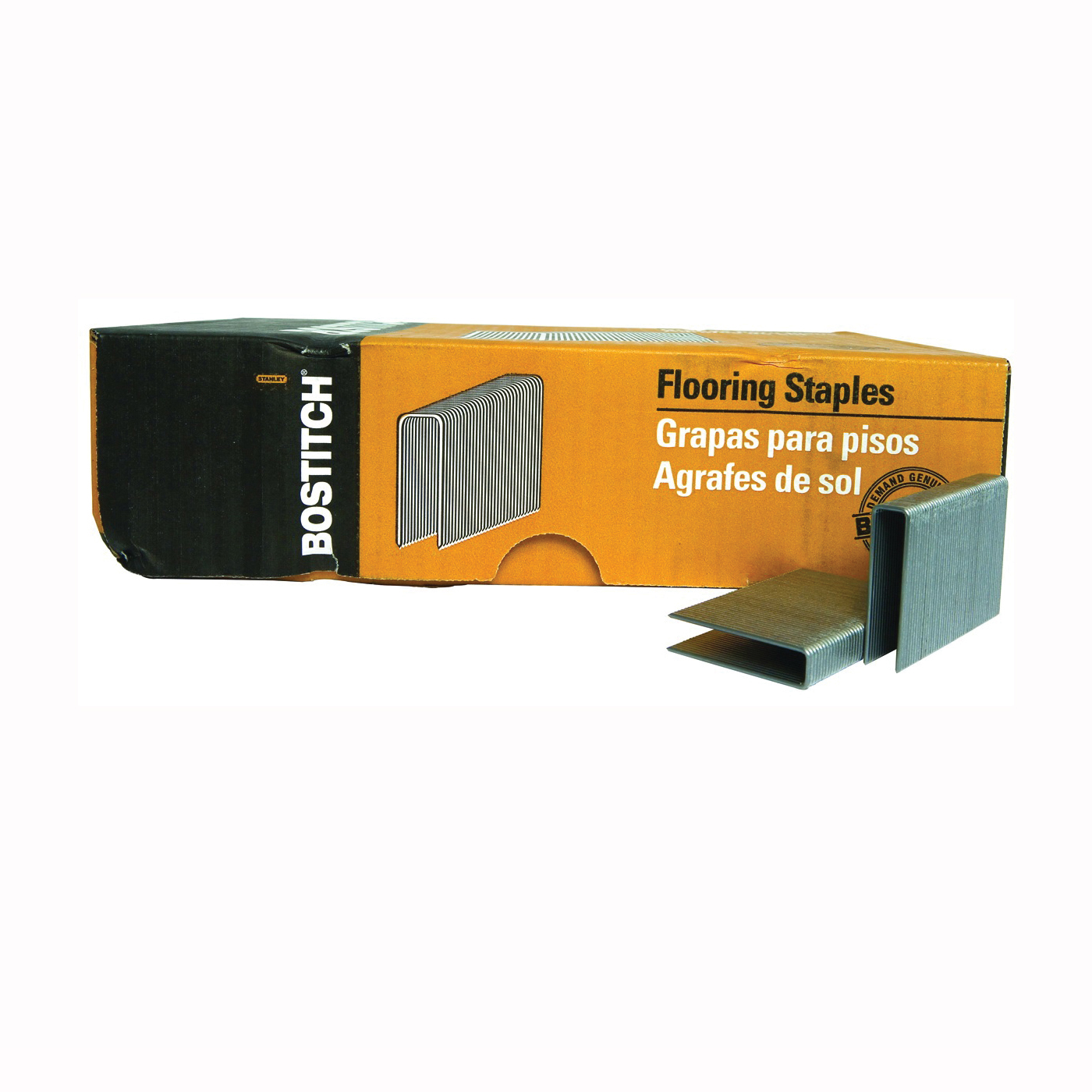 Picture of Bostitch BCS1516 Flooring Staple, 1/2 in W Crown, 2 in L Leg, 15-1/2 Gauge, Steel, 7728, Pack