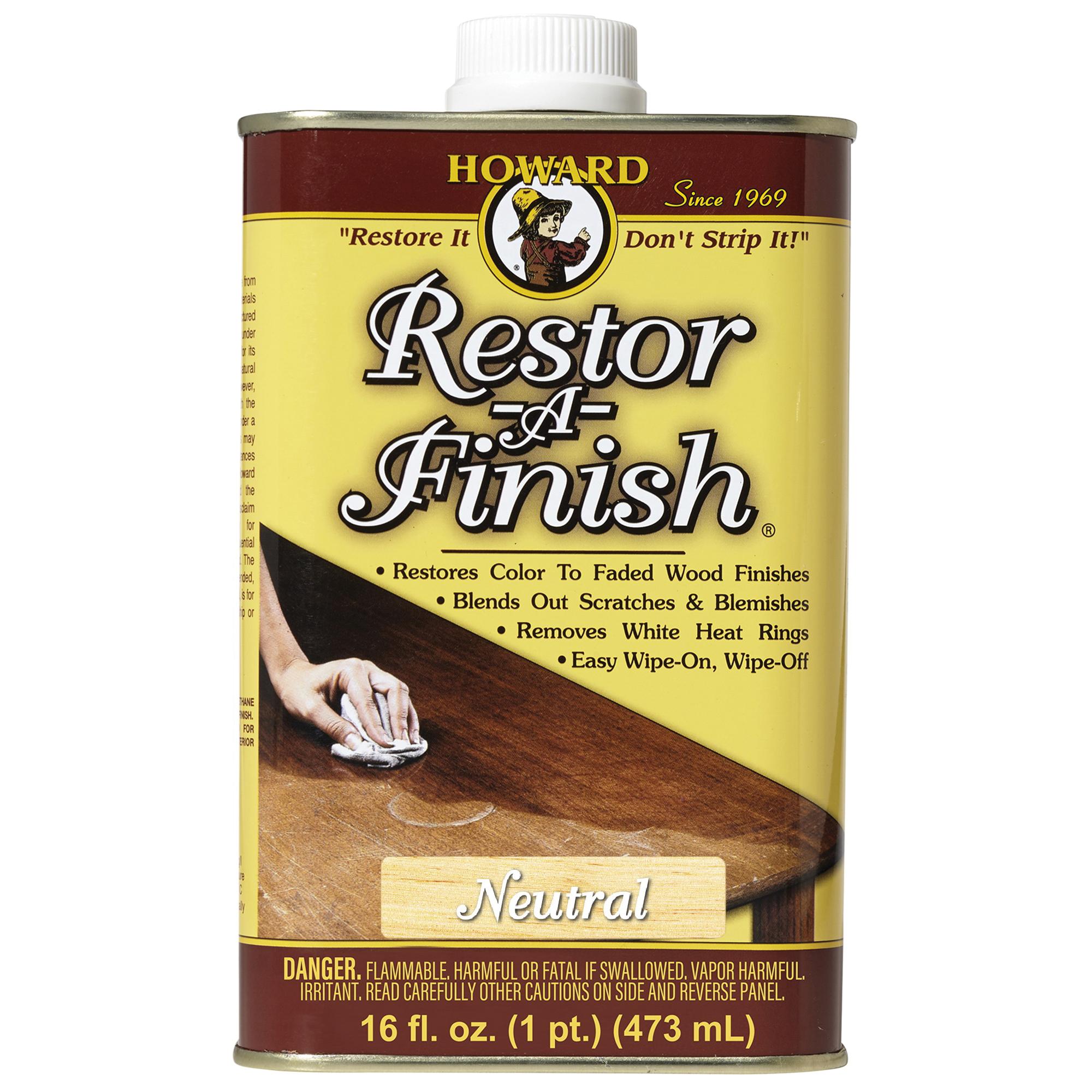 Picture of HOWARD Restor-A-Finish RF1016 Wood Restorer, Liquid, 16 oz, Can