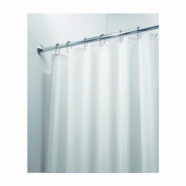 Picture of iDESIGN 14652 Shower Curtain/Liner, 72 in L, 72 in W, Polyester, White