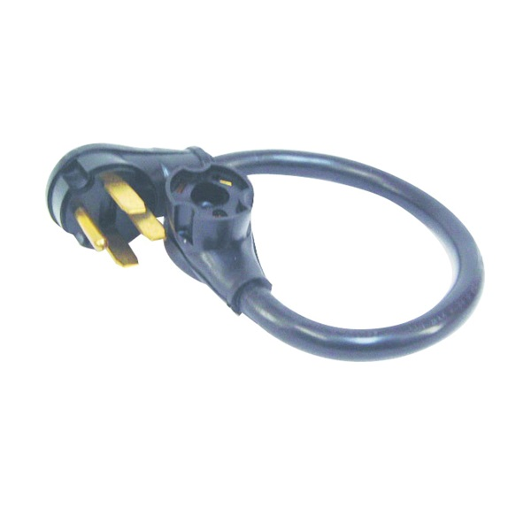 Picture of US Hardware RV-346B Adapter, 50 A Female, 30 A Male, 120 V, Female, Male, 10 AWG Cable