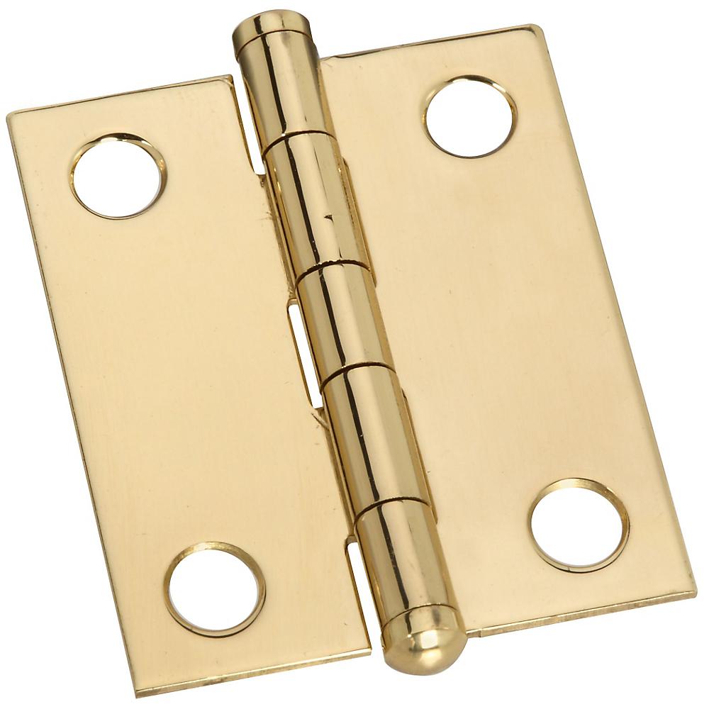 Picture of Stanley Hardware V1806 Series 803270 Ball Tip Hinge, 1-1/2 in H Door Leaf, 0.04 in Thick Door Leaf, Solid Brass