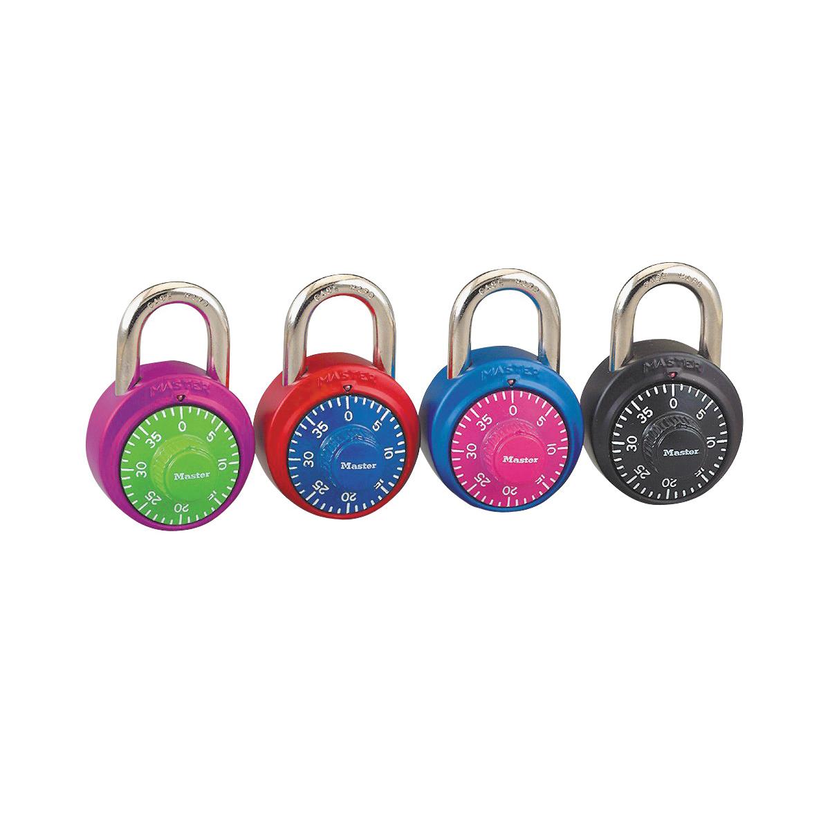 Picture of Master Lock 1530DCM Combination Dial Padlock, 9/32 in Dia Shackle, 3/4 in H Shackle, Steel Shackle, Steel Body