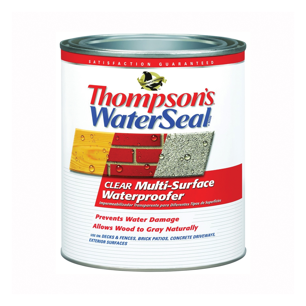 Picture of Thompson's WaterSeal TH.024104-14 Waterproofer, Clear, 1 qt, Can
