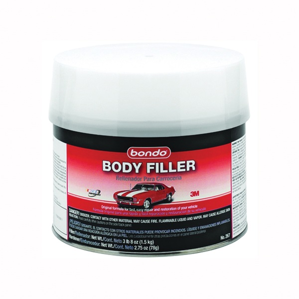 Picture of Bondo 267 Body Filler, 0.5 gal Package, Can, Paste, Pungent Styrene