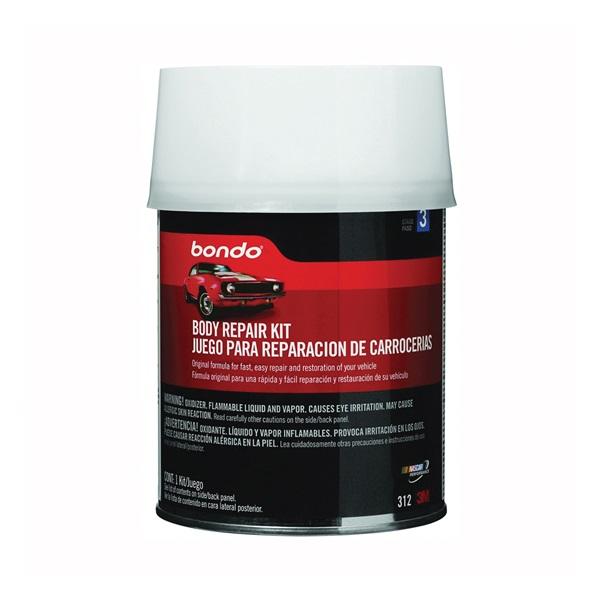 Picture of Bondo 312 Body Repair Kit Can, Can, Liquid, Pungent Styrene, Slight Ester