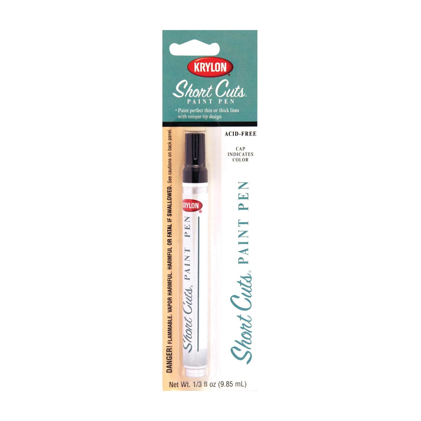 Picture of Krylon Short Cuts KSCP914 Paint Pen, Chisel Tip, Black