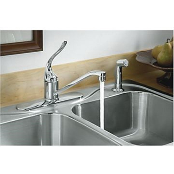 Picture of Sterling Southhaven 11401-4-NA Kitchen Sink, 4-Faucet Hole, 22 in OAW, 7 in OAD, 33 in OAH, Stainless Steel