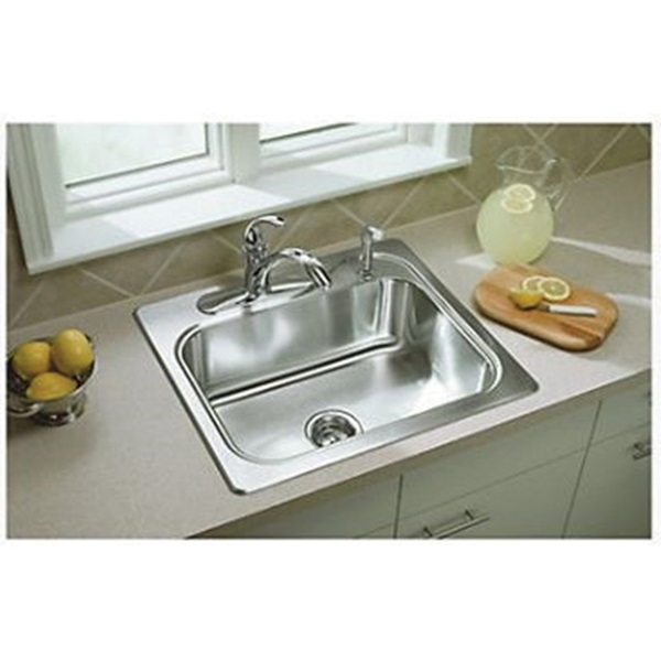 Picture of Sterling Southhaven 11404-4-NA Kitchen Sink, 4-Faucet Hole, 22 in OAW, 7 in OAD, 25 in OAH, Stainless Steel