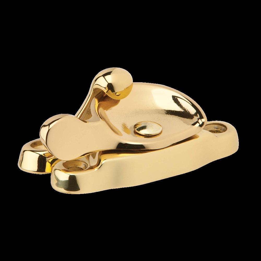 Picture of Schlage 07MB-605 Window Sash Lock, Solid Brass, Brass