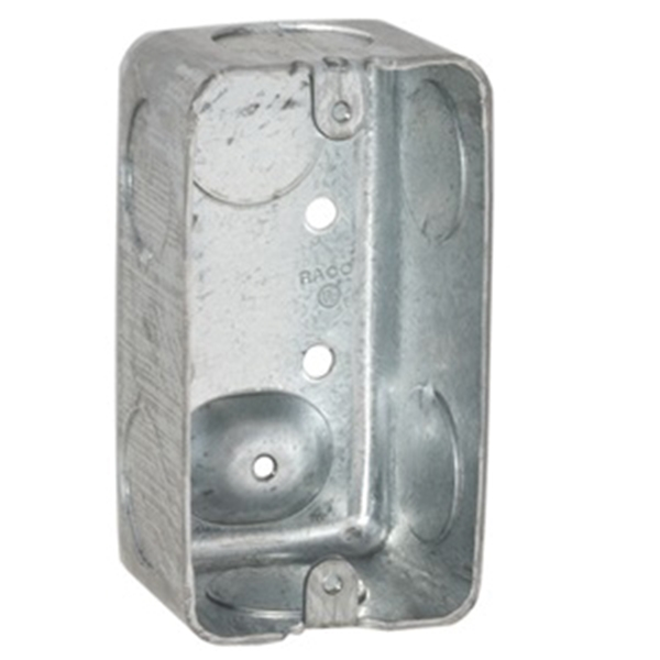 Picture of RACO 8663 Handy Box, 1-Gang, 7-Knockout, 3/4 in Knockout, Steel, Gray