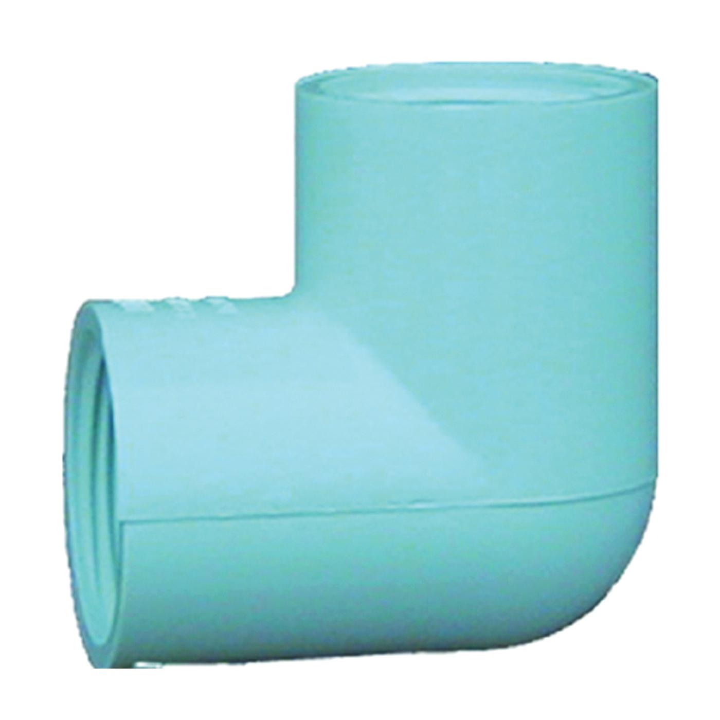 Picture of GENOVA 300 33714 Pipe Elbow, 1-1/4 in, FIP, 90 deg Angle, PVC, White, SCH 40 Schedule