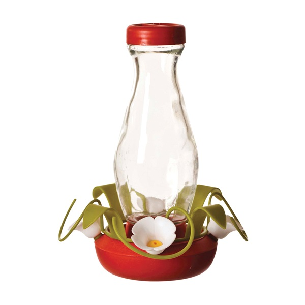 Picture of Perky-Pet 161-3 Hummingbird Feeder, 16 oz, 4-Port/Perch, Glass, 8.63 in H