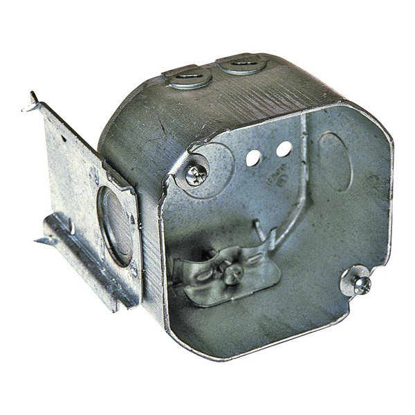 Picture of RACO 176 Electrical Box, 3-5/8 in OAW, 2-1/8 in OAD, 4-3/8 in OAH, 7-Knockout, Steel Housing Material, Gray