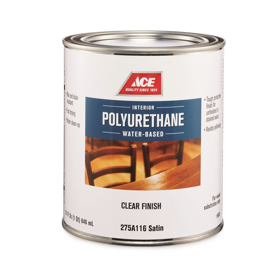 Picture of ACE 16003 Polyurethane Varnish, Satin, Clear, Liquid, 1 qt, Can