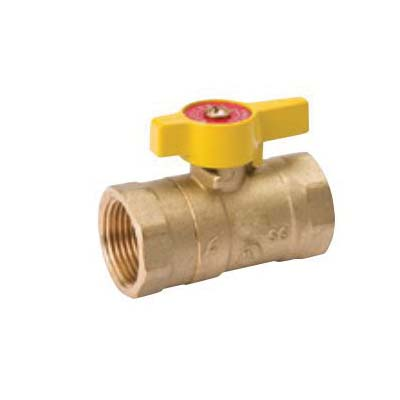 Picture of B & K 110-225 Gas Ball Valve, 1 in Connection, FPT, 200 psi Pressure, Brass Body