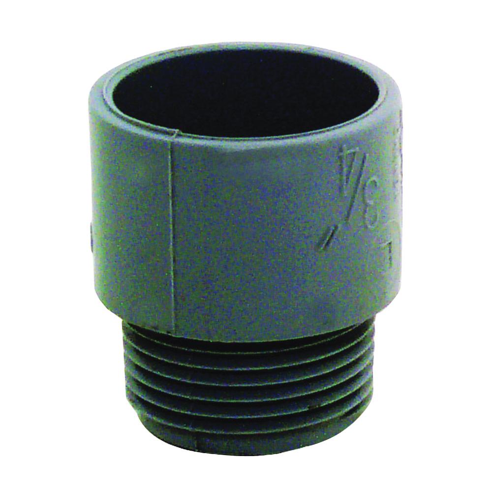Picture of Carlon E943E-CTN Terminal Adapter, 3/4 in Trade, MPT x Socket, 1.29 in Dia, 1.47 in L, PVC, Gray