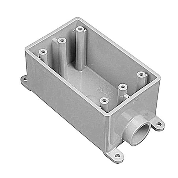 Picture of Carlon E980EFN-CTN Switch Box, 1-Gang, 1-Outlet, PVC, Gray