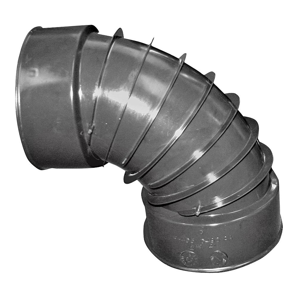 Picture of HANCOR 0490AA Drain Elbow, 4 in, Snap-Lock, 90 deg Angle, Polyethylene, Black