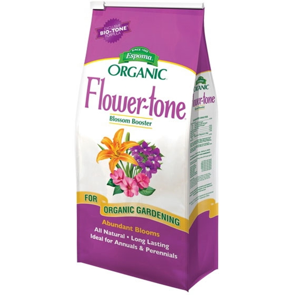 Picture of ESPOMA Flower-Tone FT4 Plant Food, Granular, 4 lb Package, Bag