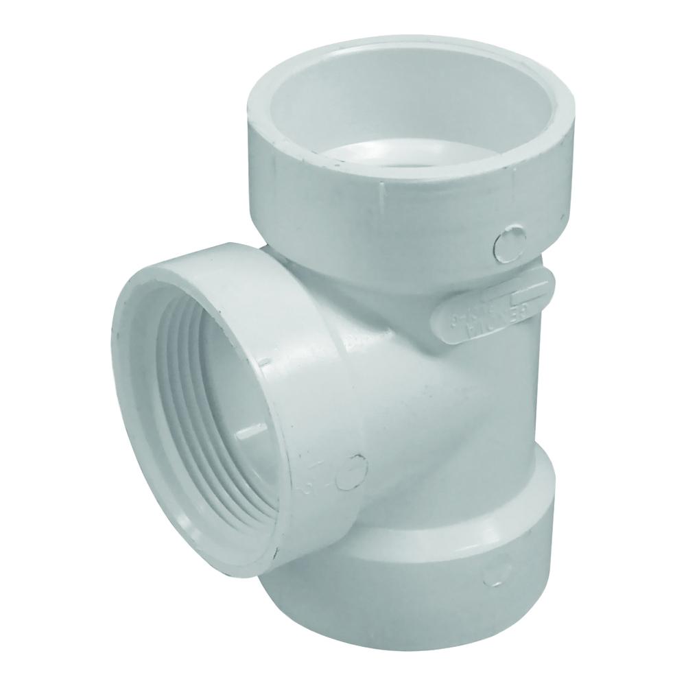 Picture of GENOVA 700 71416 Pipe Test Tee, 1-1/2 in, Hub x Hub x FIP, PVC, SCH 40 Schedule