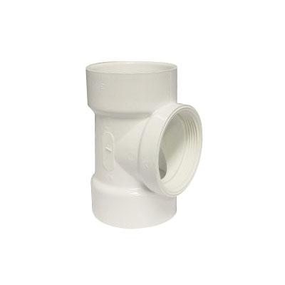 Picture of GENOVA 700 71431 Pipe Test Tee, 3 in, Hub x Hub x FIP, PVC, SCH 40 Schedule