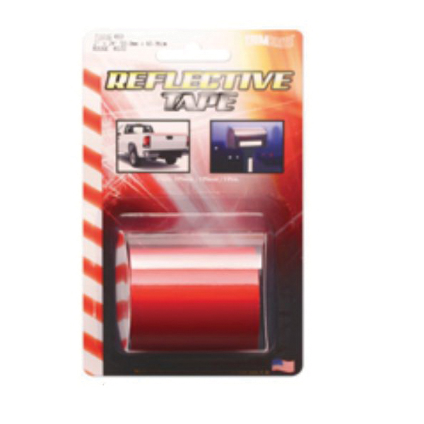 Picture of Trimbrite T1816 Reflective Tape, 24 in L, 2 in W, Vinyl Backing, Red