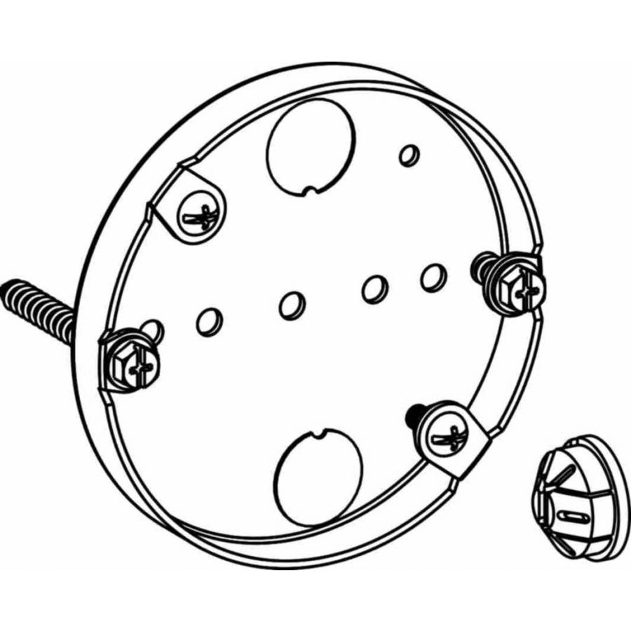 Picture of Orbit FS4PB Fan Support Box, 4 in W, 1/2 in D, 4.38 in H, 2-Knockout, Steel, Silver