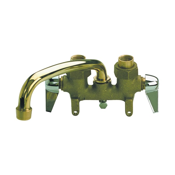 Picture of B & K 125-001 Laundry Faucet, 2-Faucet Handle, Brass, Chrome, Clamp Mounting