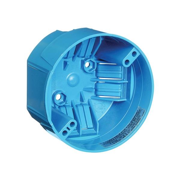 Picture of Carlon B720R-SHK Ceiling Fan Box, 2-5/16 in D, 1-Gang, PVC, Blue