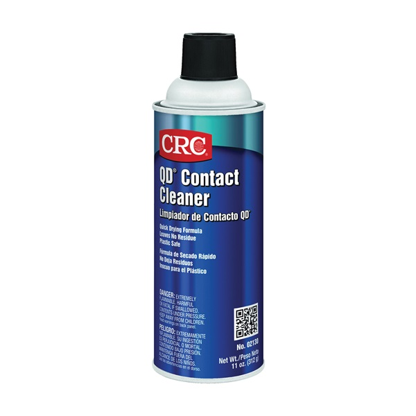 Picture of CRC QD 02130 Contact Cleaner, 11 oz Package, Aerosol Can, Liquid, Alcohol