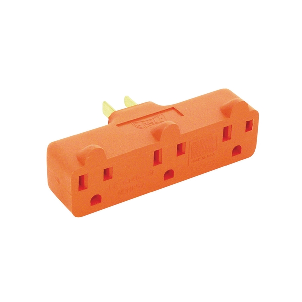 Picture of Eaton Wiring Devices 4402RN-BOX Outlet Adapter, 2-Pole, 15 A, 125 V, 3-Outlet, NEMA: 5-15R