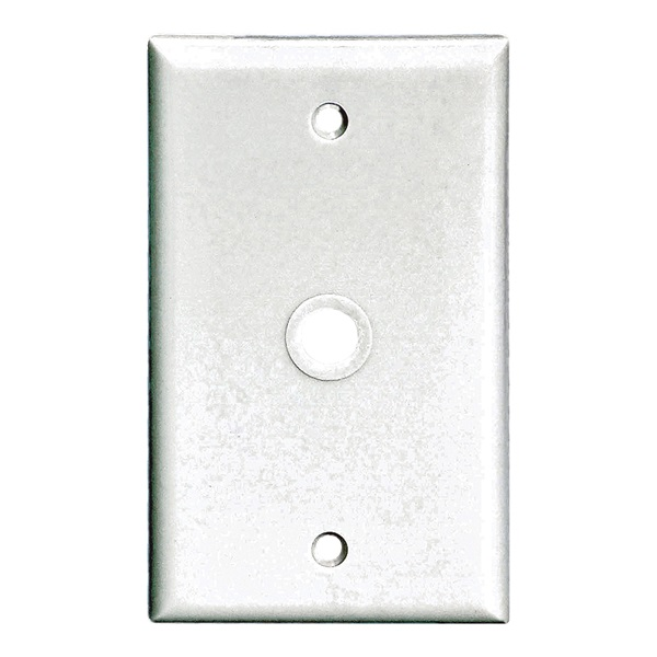 Picture of Eaton Wiring Devices 2128 Series 2128W-BOX Wallplate, 4-1/2 in L, 2-3/4 in W, 1-Gang, Thermoset, White