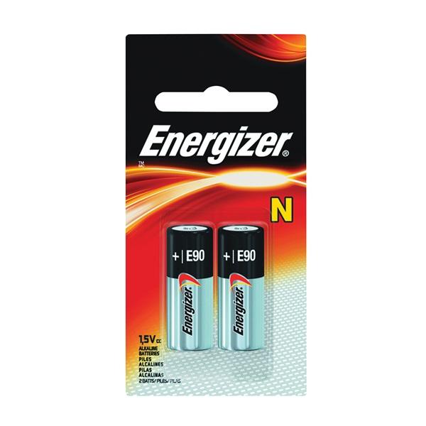 Picture of Energizer E90 Series E90BP-2 Alkaline Battery, 1.5 V Battery, 1 Ah, Zinc, Manganese Dioxide