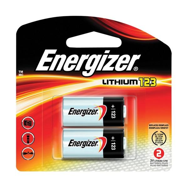 Picture of Energizer EL123AP Series EL123APB2 Lithium Battery, 3 V Battery, 1500 mAh, Lithium, Manganese Dioxide