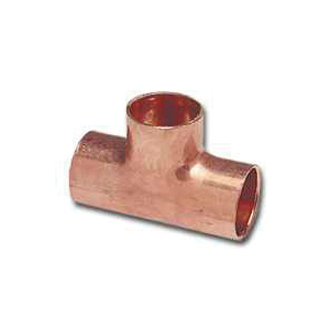 Picture of EPC 111R 32824 Pipe Reducing Tee, 1 x 1 x 3/4 in, Sweat, Copper