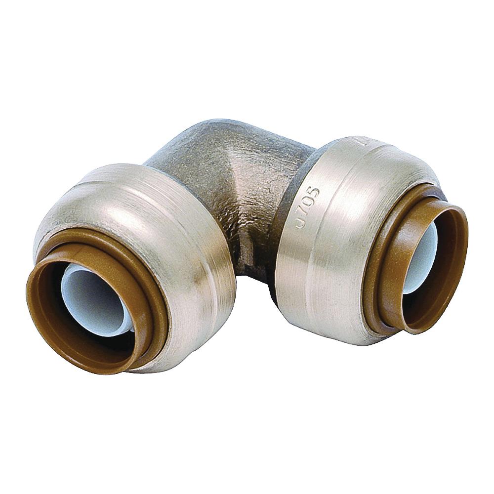 Picture of SharkBite U256LFA Tube Elbow, 3/4 in, 90 deg Angle, Brass, 200 psi Pressure