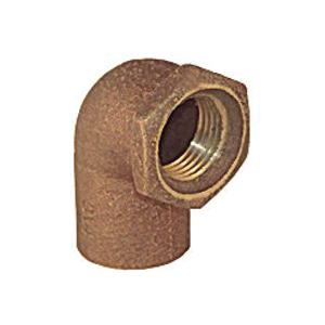 Picture of EPC 10156816 Pipe Elbow, 1/2 in, Compression x Female, 90 deg Angle, Copper