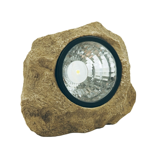 Picture of Moonrays 91211 Rock Spot Light with Key Hider, LED Lamp, Polyresin Fixture, Stone