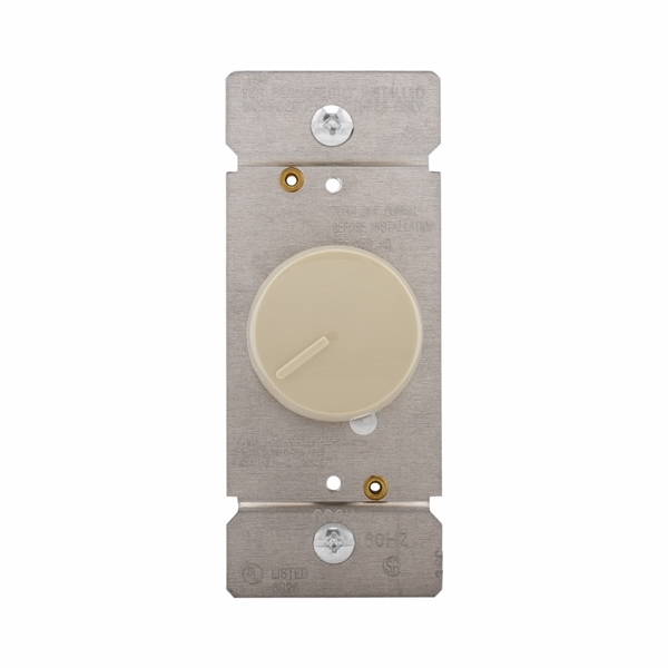 Picture of Eaton Wiring Devices RI06PL-V-K Rotary Dimmer, 120 V, 600 W, Halogen, Incandescent Lamp, 3-Way, White