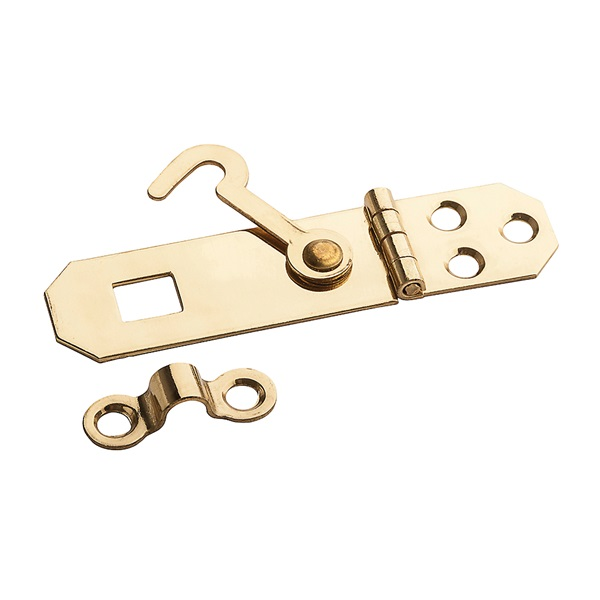 Picture of Stanley Hardware V1828 Series 803530 Ornamental Hasp, 2-3/4 in L, 3/4 in W, Brass