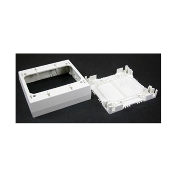 Picture of Legrand Wiremold NM Series NM3-2 Outlet Box, 2-Gang, 0-Knockout, Plastic, Ivory, Wall Mounting