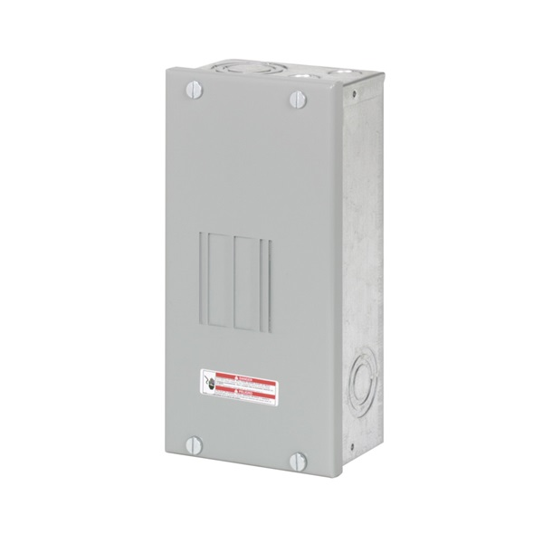 Picture of Cutler-Hammer BR Series BR24L70SP Load Center, 70 A, 2-Space, 4-Circuit, Main Lug, NEMA 1 Enclosure, Light Gray